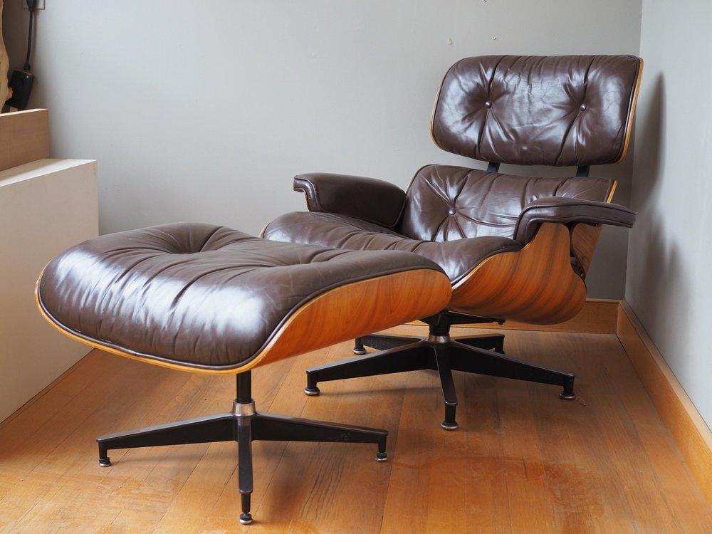 Vintage Eames Lounge Chair + Ottoman