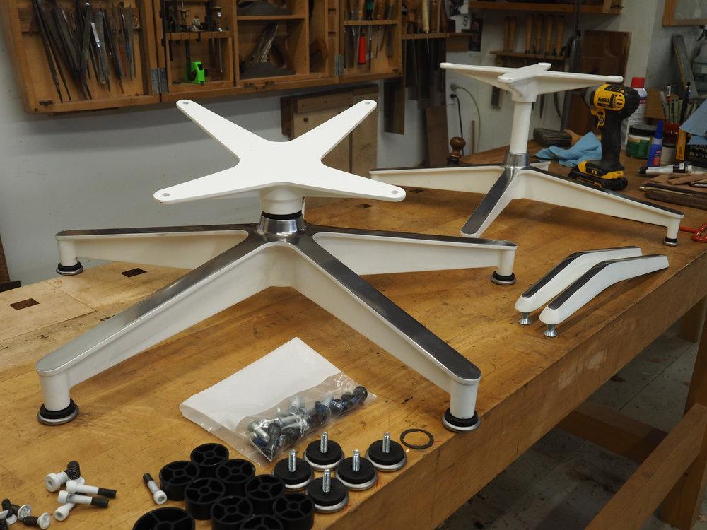 Custom powder-coated and polished hardware.
