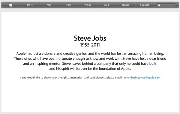 Apple  Remembering Steve Jobs