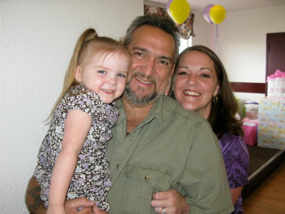 My youngest and wife with my Dad. We always had a good time together.