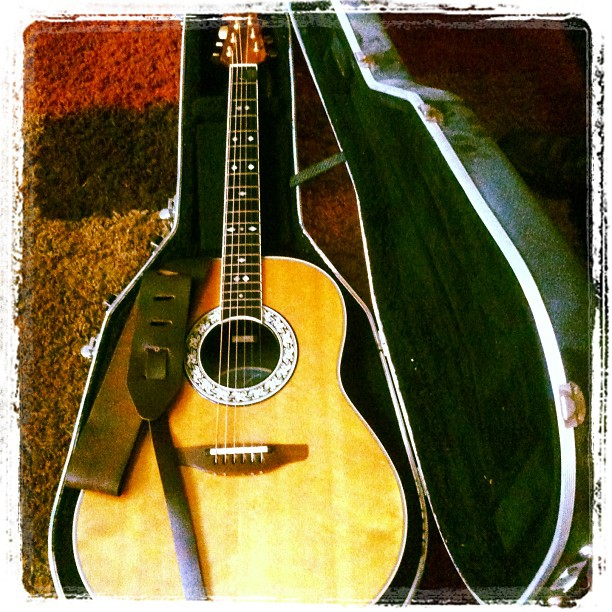 Dad's Ovation electric acoustic