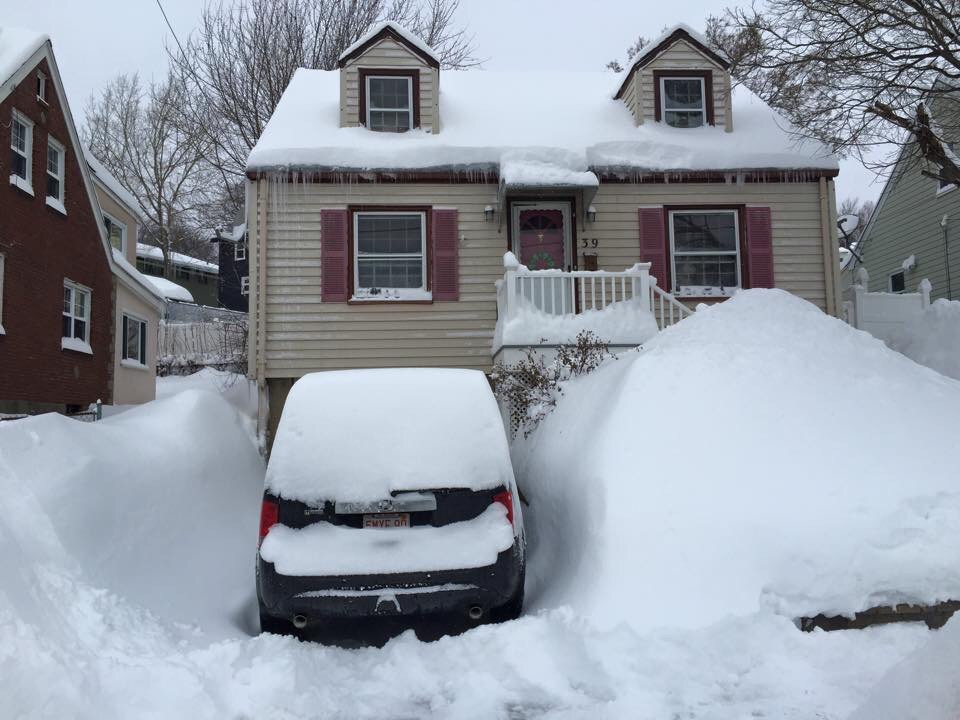 This is the front of my house, buried in snow.