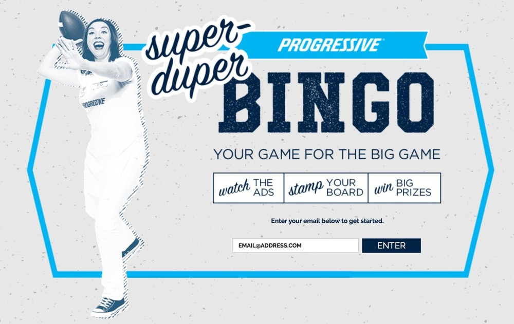 Get your #SuperDuperBingo on with Progressive Insurance and win some prizes!
