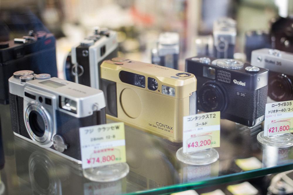 Fuji Klasse W, Contax T2 and Rollei B35