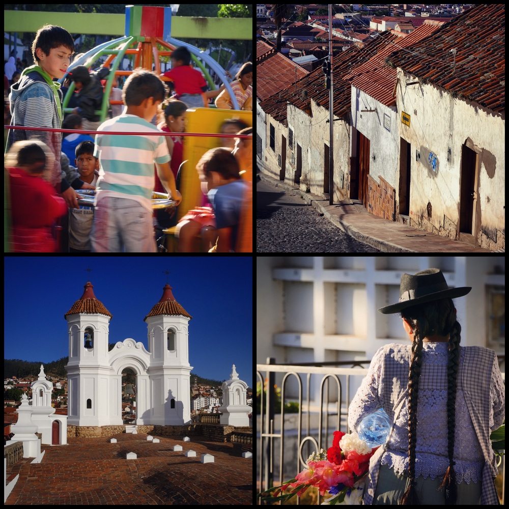 Park in Sucre + Steep Sucre Streets + San Felipe de Neri Monastery + General Cemetery