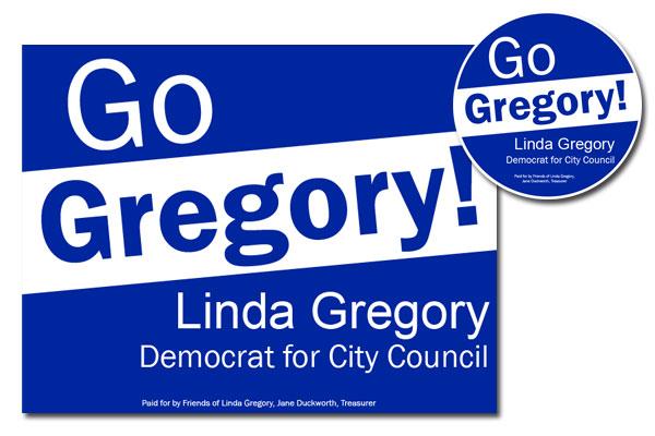 political candidate signage/identity