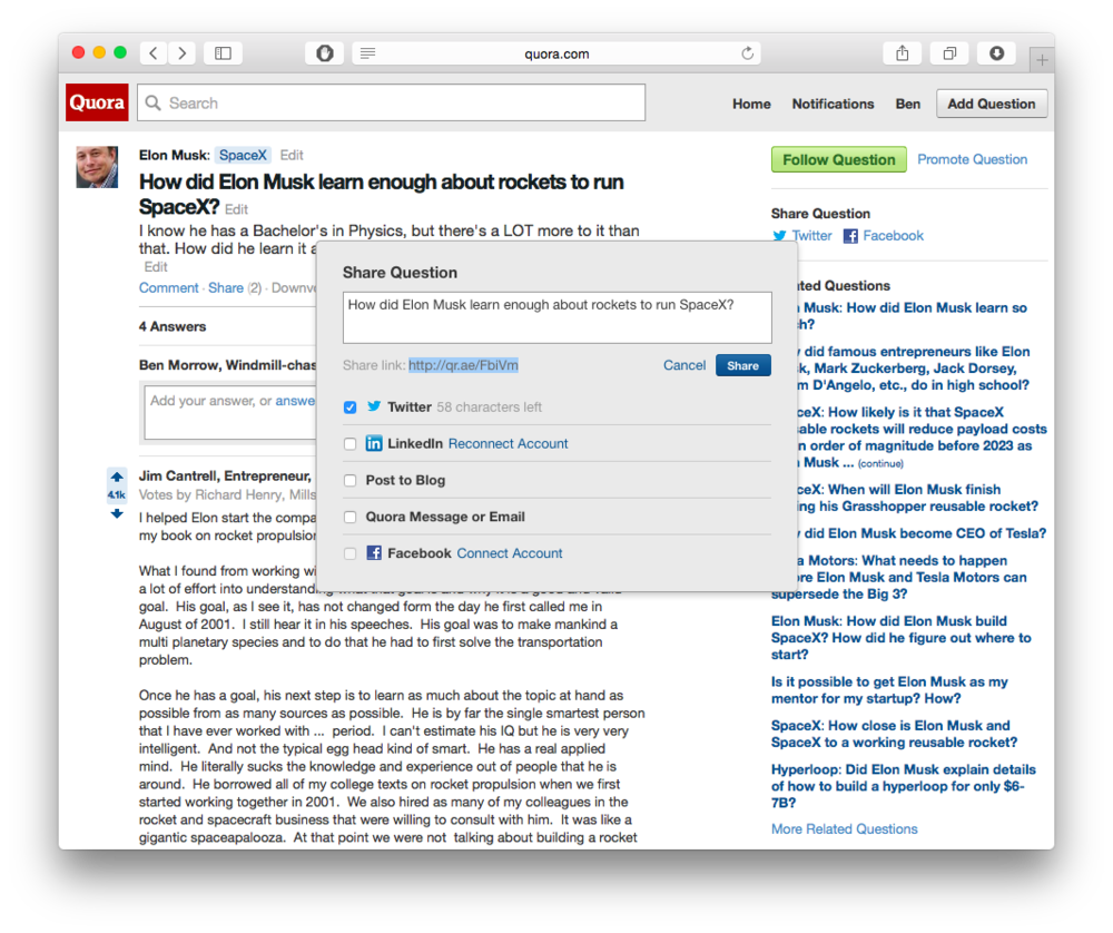 Example: On Quora where when you click the share URL, it gets highlighted.