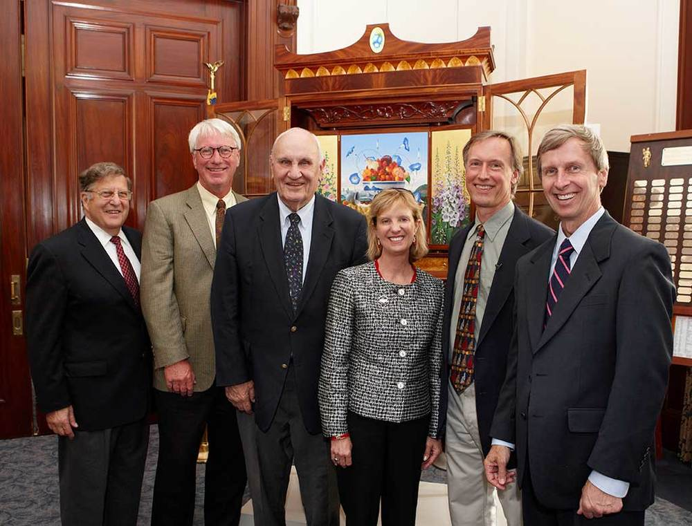 Left to Right—Gov. John Sununu, James Aponovich, Gov. Walter Perterson, First Lady Dr. Susan Lynch, David Lamb, Gov. John Lynch.