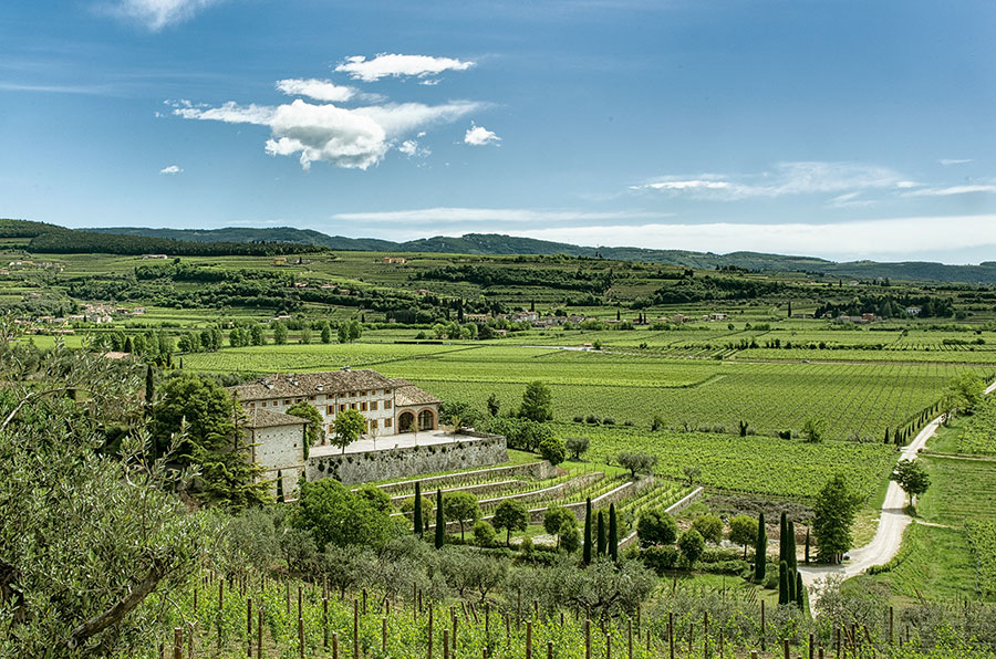 The Casale over vineyards at Tenute Ugolini