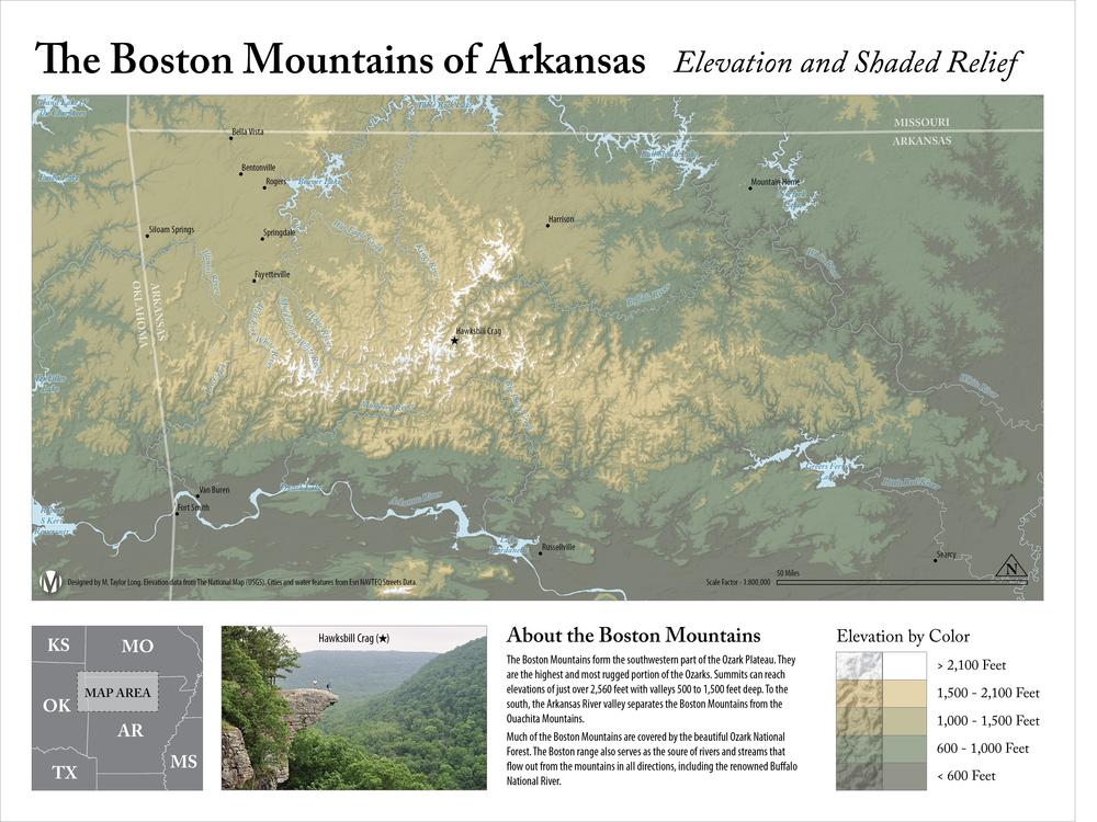 The Boston Mountains Of Arkansas M Taylor Long