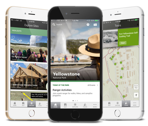 Yellowstone Mobile App: One of my main 2015 projects in which I led data development and basemap design.