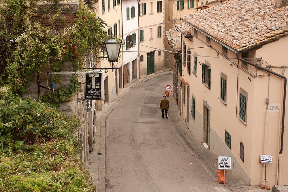 Winding streets of Cortona