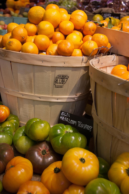 Fruit barrels, Grand Central Market.