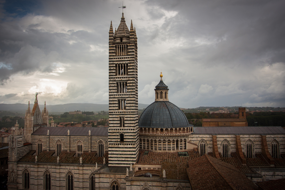 An overhead view of the Siena's spectacular cathedral.