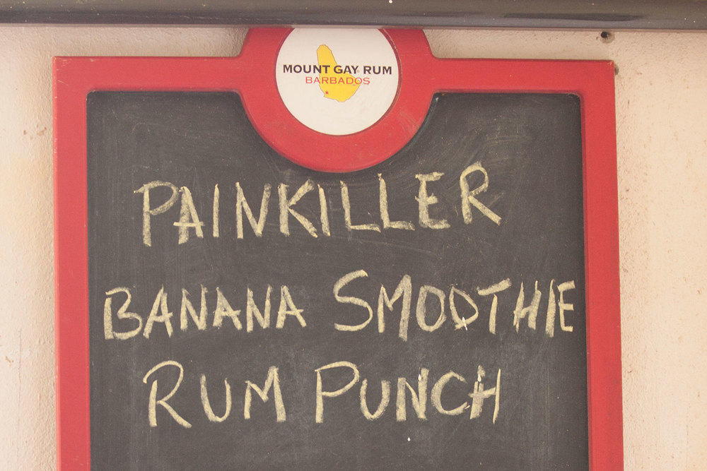 "At the trails end, there's a little gift shop with ""Painkiller"" rum drinks."