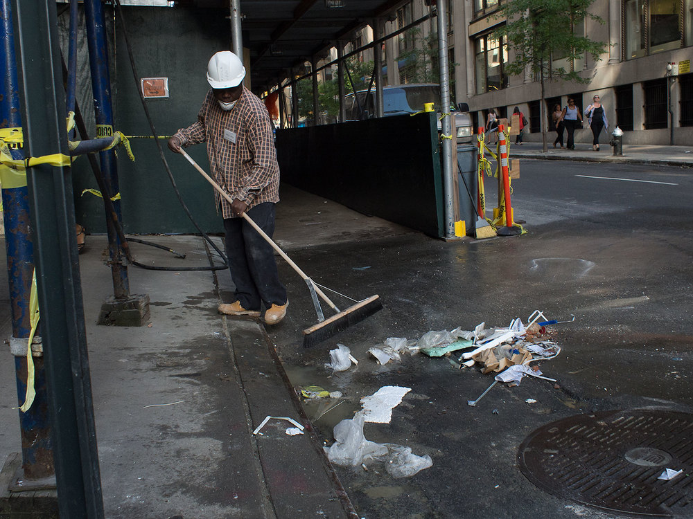 Cleaning up the city.