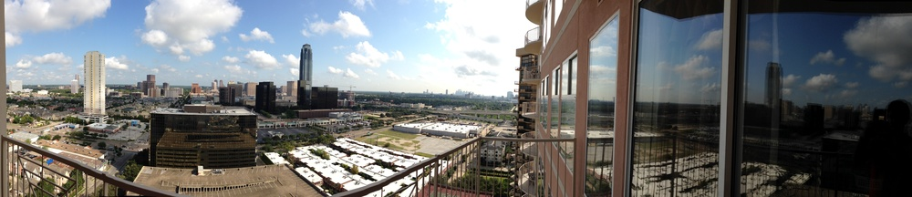 A panoramic photo taken from my balcony with the iPhone 5