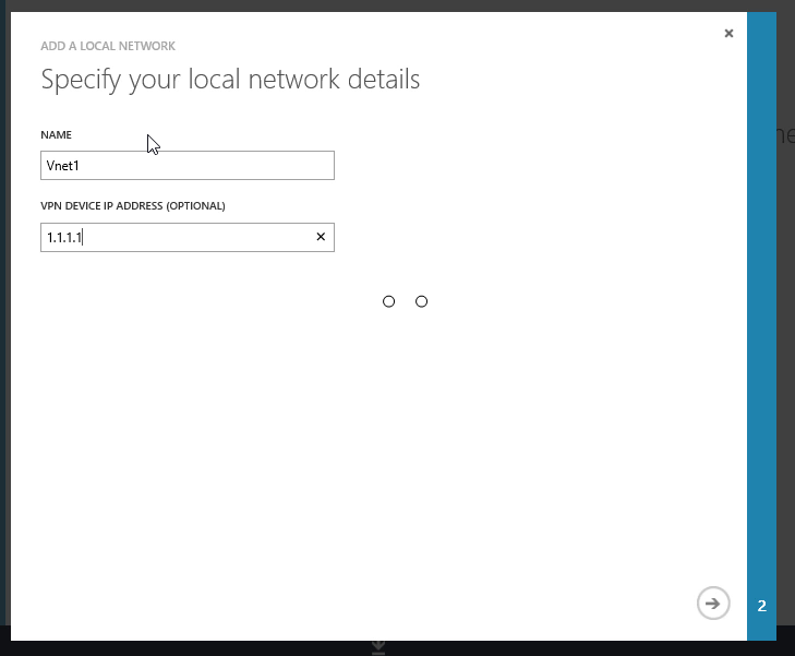 Step 2: Local Network Details