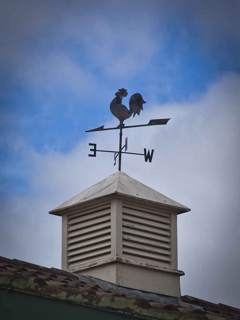 Weather vane on top of the Colonial Lodge