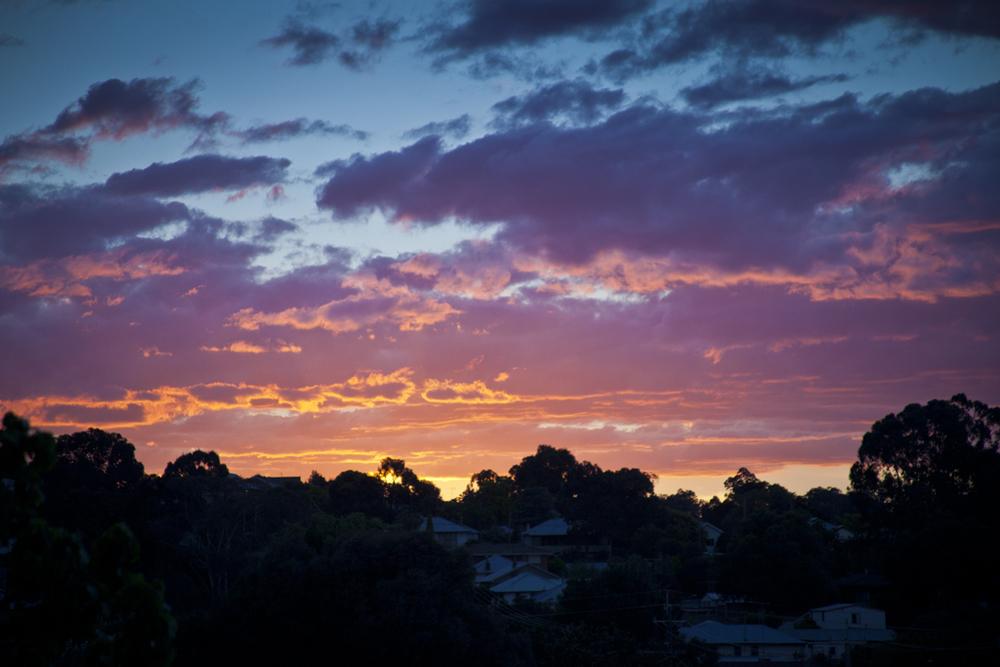 Sunset over Yass