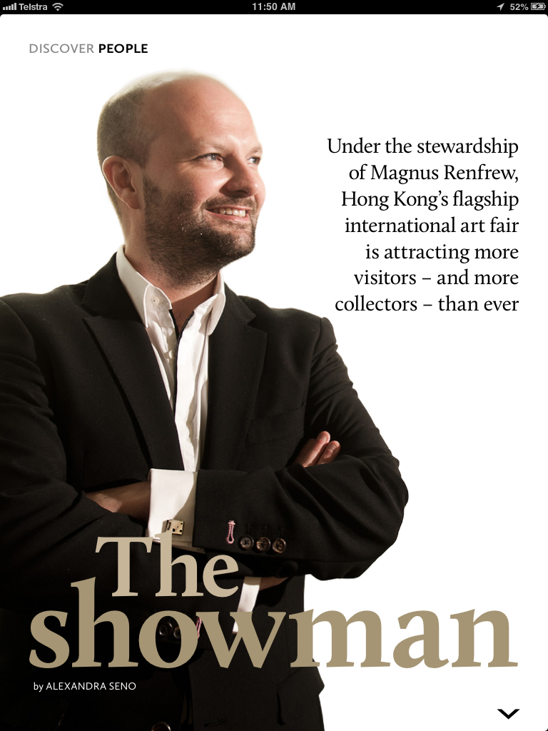 "The English version of ""The Showman"" page"