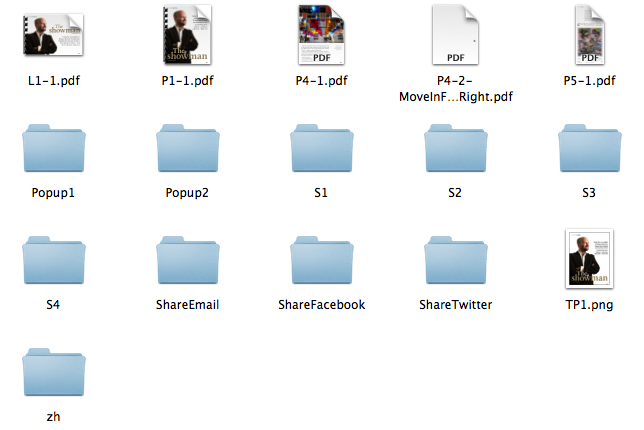"""""""The Showman"""" folder assets"""