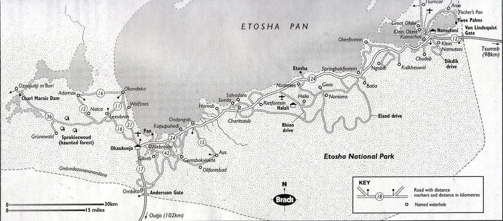 Map of Etosha