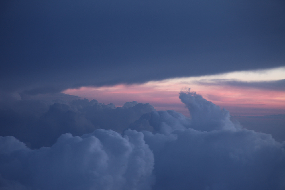 Thunderstorm over Johannesburg on our flight to Namibia