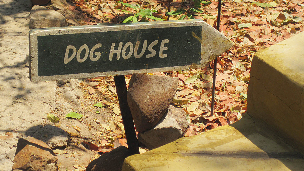 Dog House Sign