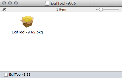 ExifTool package