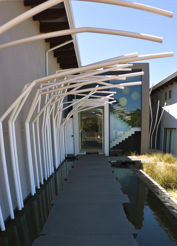 Entrance walkway to the Alpine Attitude reception