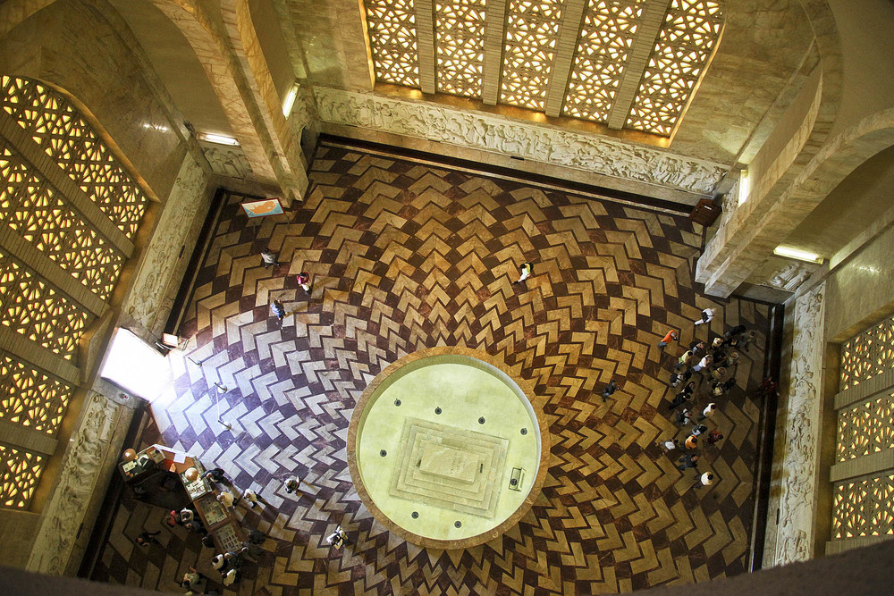 Looking down into the Hall of Heroes from the dome