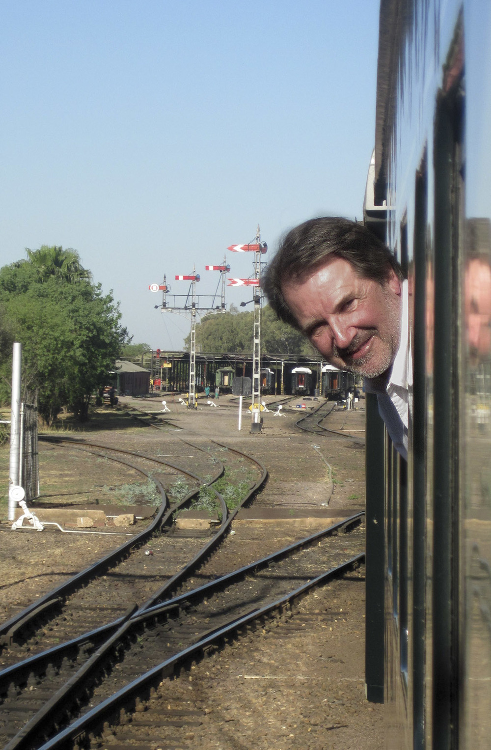 Pulling out of the station in Pretoria