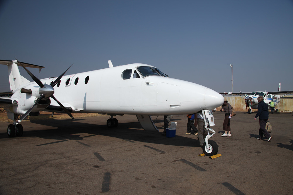 Our plane to Ulusaba