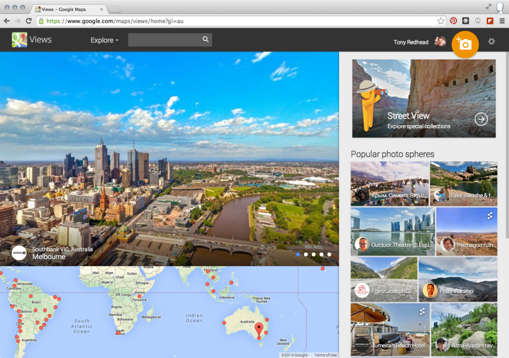 Google Map Views home