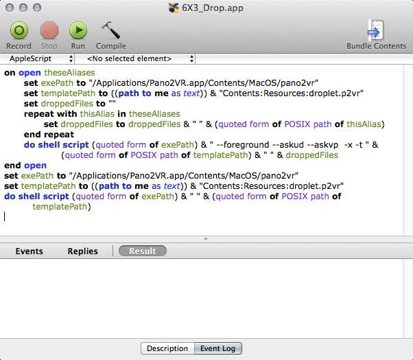 #3 AppleScript Editor window