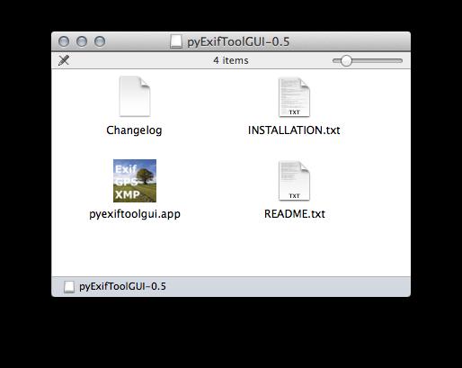 pyExifToolGUI files