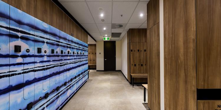 New - Gateway Building:  EOT Locker Wall