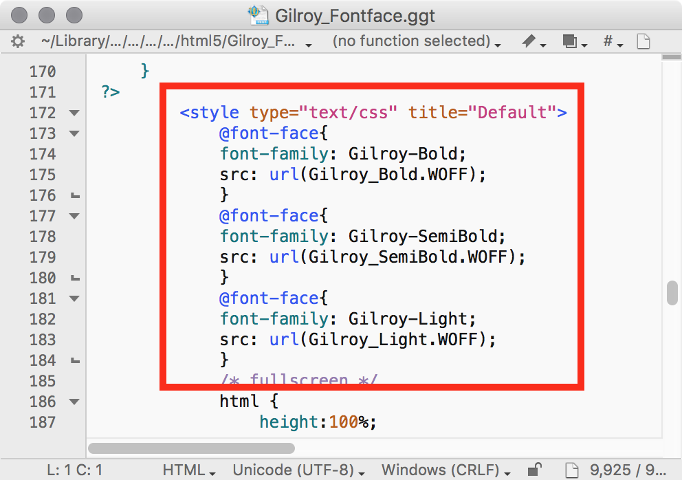 Updated text style in the Gilroy_Fontface.ggt HTML5 template