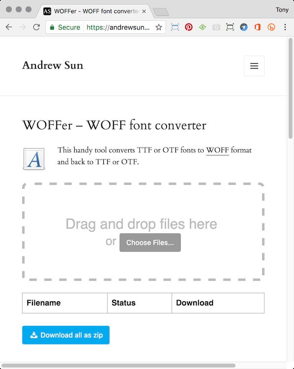 Converting  TTF &  OTF fonts to  WOFF — tony redhead