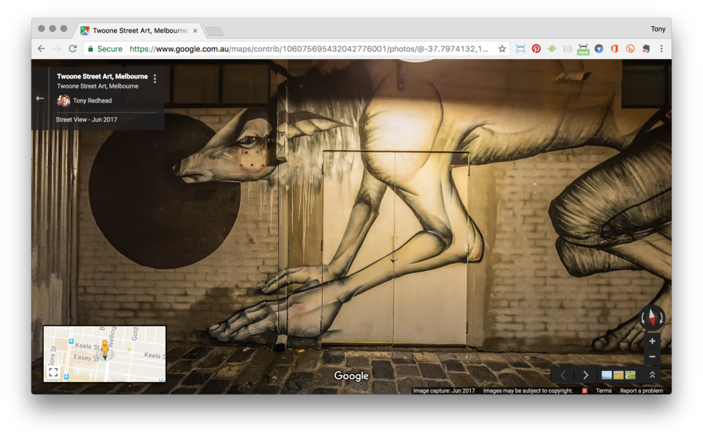 Photosphere open in a Chrome window