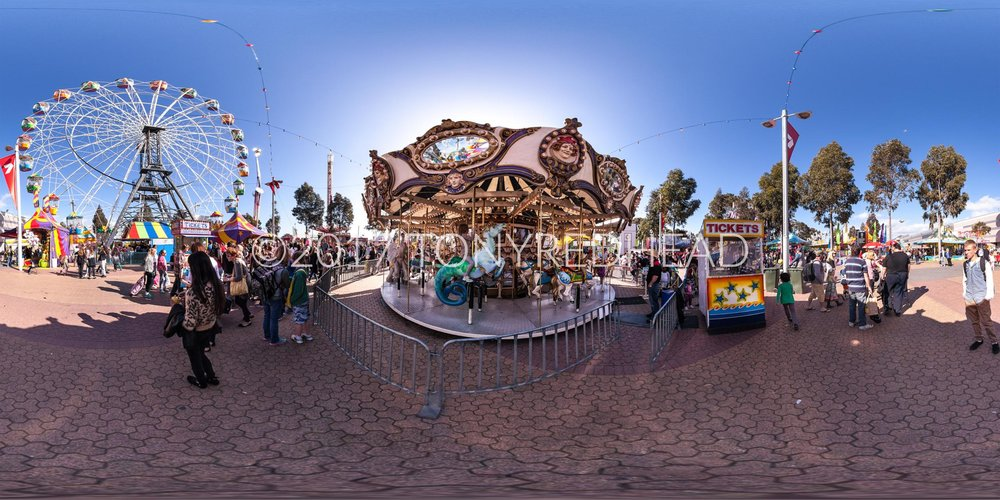 Carousel & Ferris Wheel Equirectangular