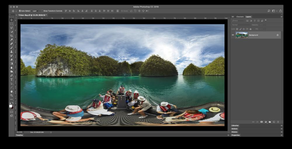 Image #2 - 360˚ Equirectangular loaded into Photoshop