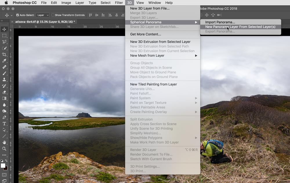 Image #6 - Create new Panorama layer