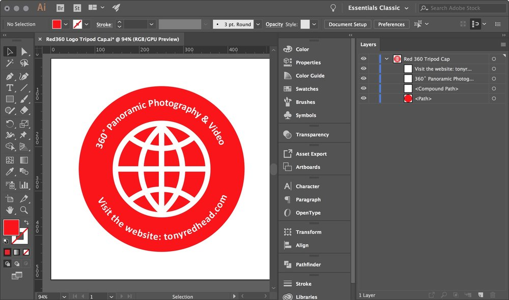 figure #1: Tripod Logo in Illustrator