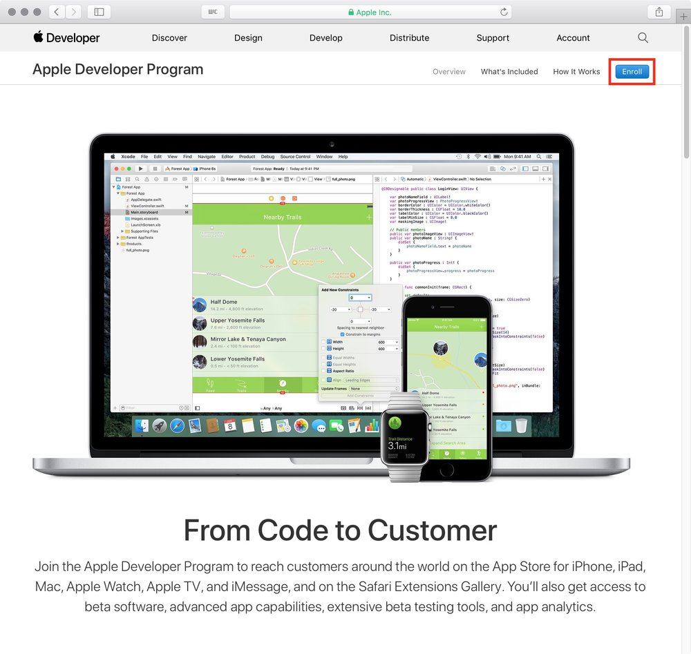 figure #11: Apple Developer Program page