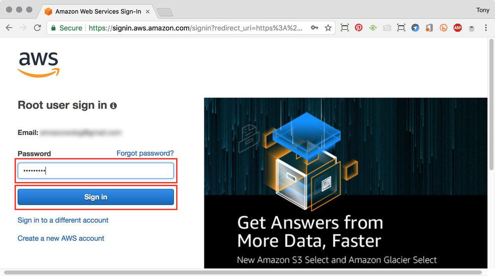 figure #4: Sign In password