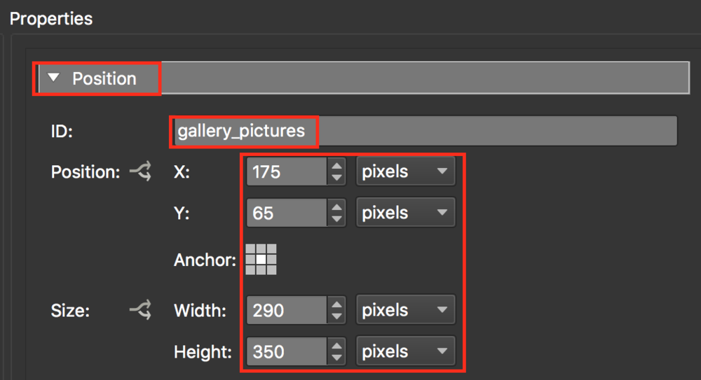 figure #14: 'gallery_pictures' position settings