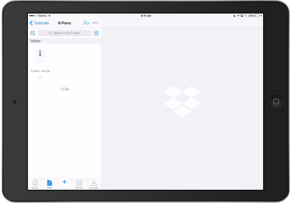 Dropbox on the iPad