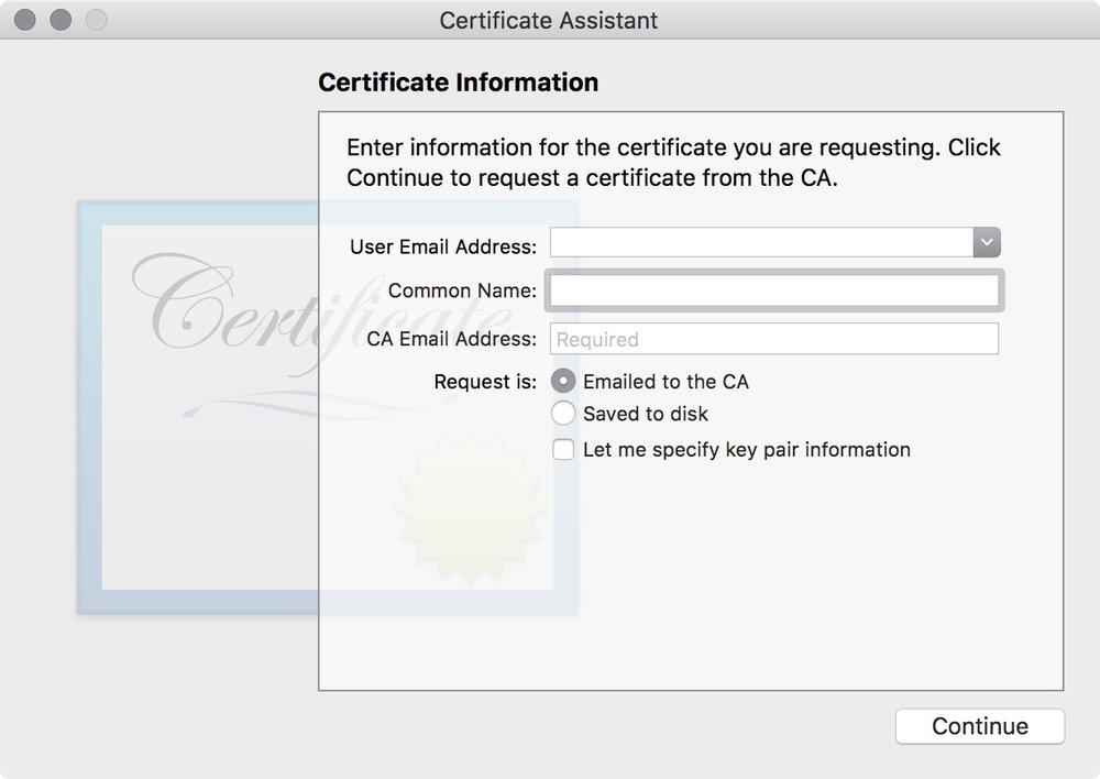 figure #10: Certificate Assistant